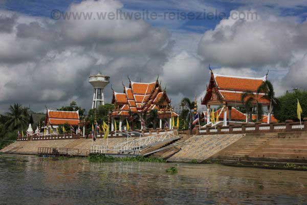 Tempel am Fluss Ayutthaya